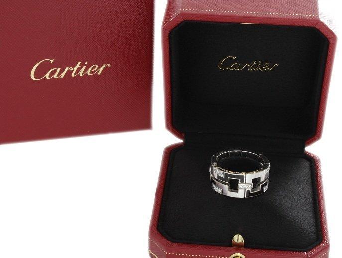 18k White Gold Cartier Le Baiser Du Dragon Ring with Di