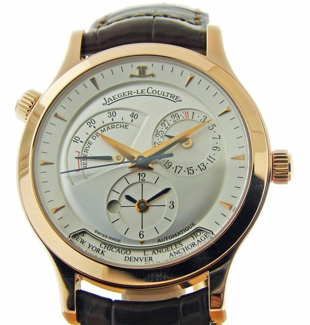 18K Rose Gold Jaeger Le Coultre Master Geographic Watch