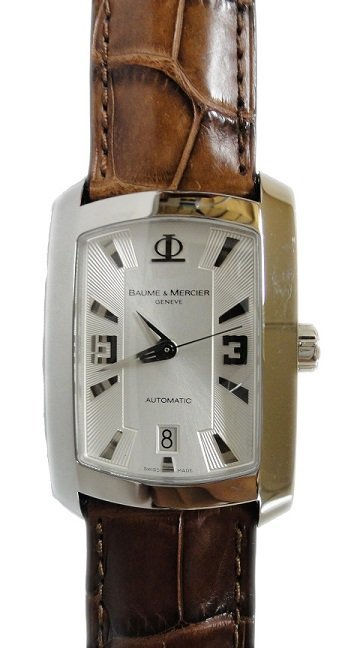 Stainless Steel Baume Mercier Automatic Watch