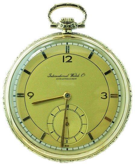 14k Yellow Gold IWC International Watch Company Pocket