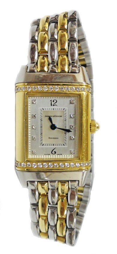 18k Yellow Gold and Steel Jaeger Le Coutre Reverso