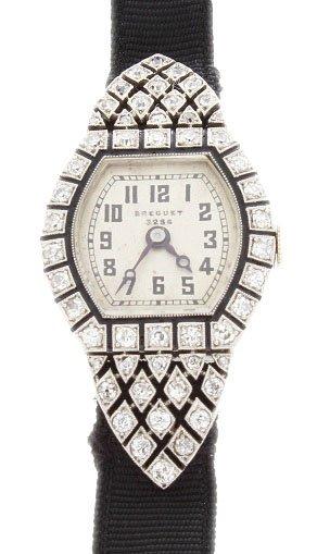 Rare Vintage Deco Ladies Breguet Platinum Diamond Watch