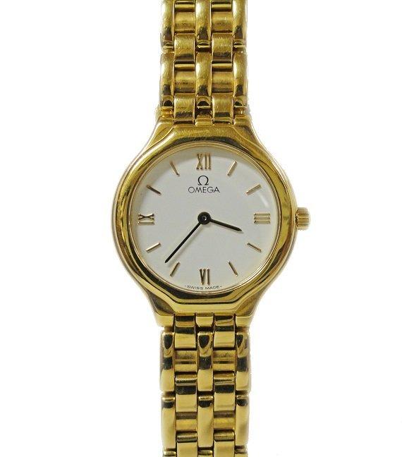 18k Yellow Gold Ladies Omega Deville Prestige Watch