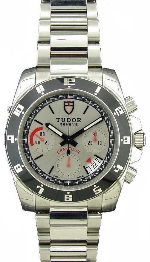 Stainless Steel Tudor Gantour Chronograph Watch