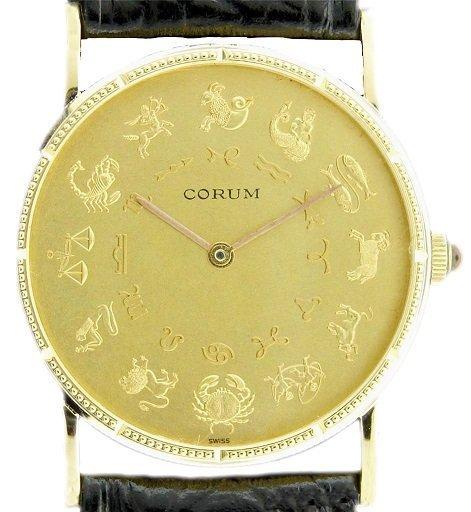 18k Yellow Gold Corum Astrology Coin Watch