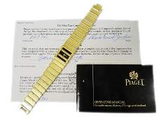 Vintage 18k Yellow Gold Piaget Polo Watch