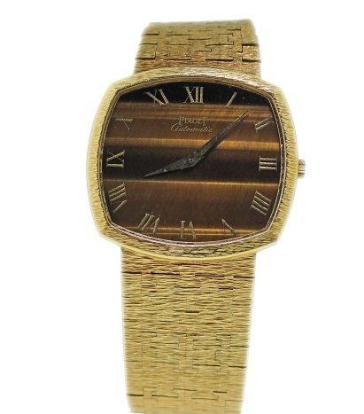 Vintage 18k Yellow Gold Piaget Tiger Eye Watch