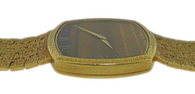 Vintage 18k Yellow Gold Piaget Tiger Eye Watch - 2