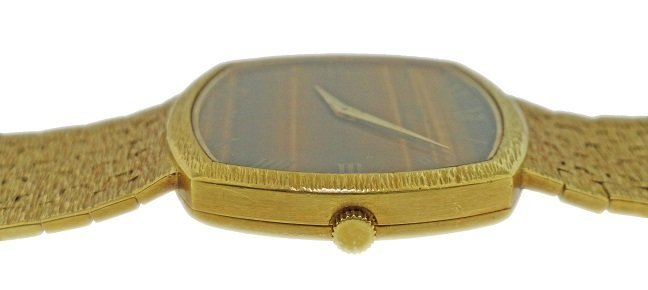 Vintage 18k Yellow Gold Piaget Tiger Eye Watch - 3