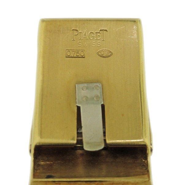 Vintage 18k Yellow Gold Piaget Tiger Eye Watch - 4