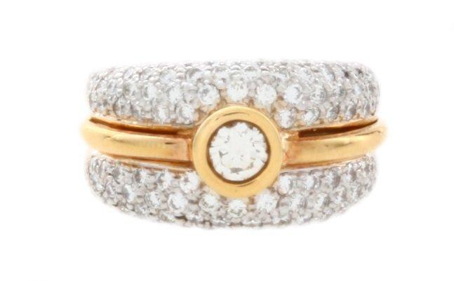18k Yellow Gold Diamond Ring 2.00CT
