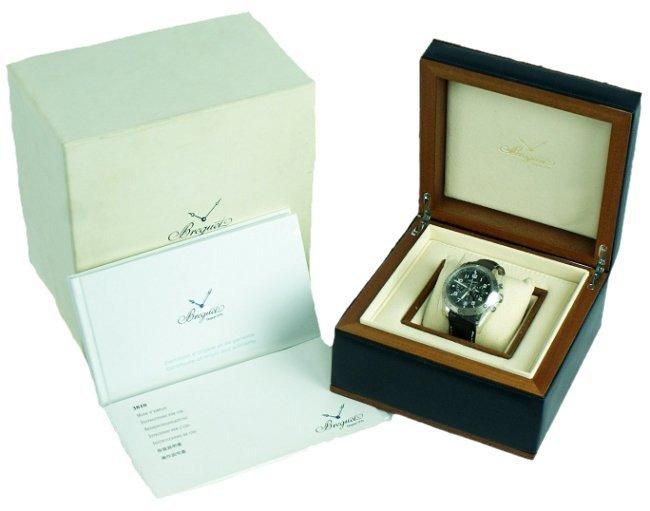 Steel Breguet Type XXI Flyback Chronograph Watch.