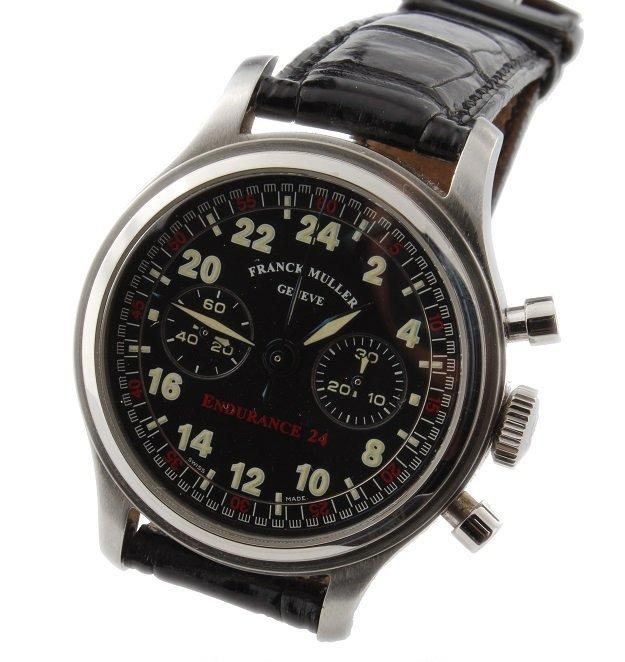 Stainless Steel Franck Muller Endurance Chronograph