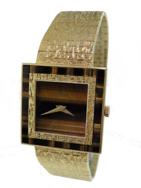 18k Yellow Gold Piaget Tiger Eye Altiplano Watch