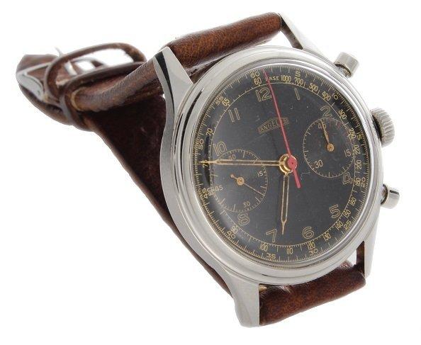 Steel Angelus Chronograph Hungarian Air Force Watch