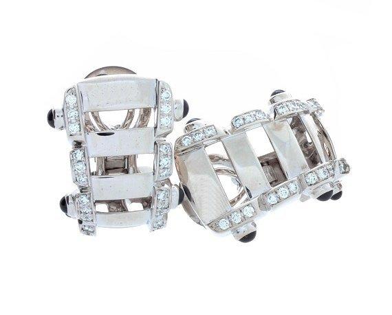 18k White Gold Diamond Patek Philippe Twenty~4 Earrings