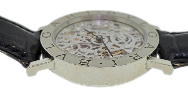 Gents 18k White Gold Bvlgari Skeleton Watch - 2