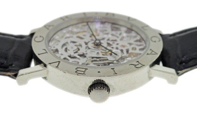 Gents 18k White Gold Bvlgari Skeleton Watch - 3