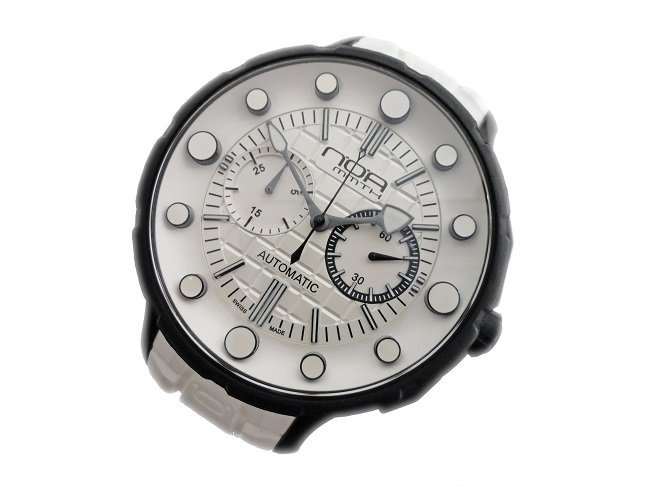 White Steel NOA MMTH Chronograph Watch #MM002