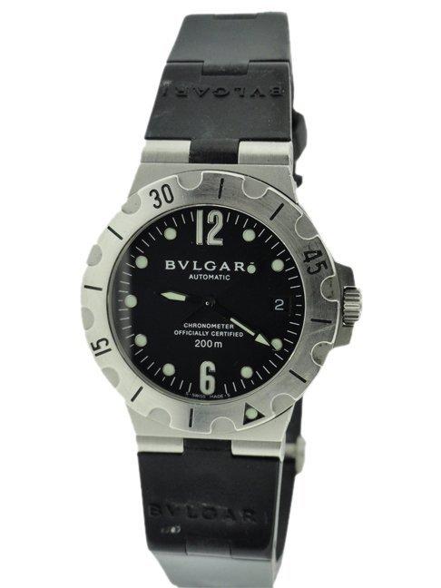 Men's Stainless Steel Bvlgari Scuba Automatic Watch