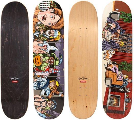 Sean Cliver Skateboard 2 Deck Set for Supreme New York - 2