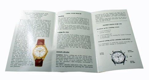 Patek Philippe Annual Calendar 5035 Owners Manual 1997 - 2