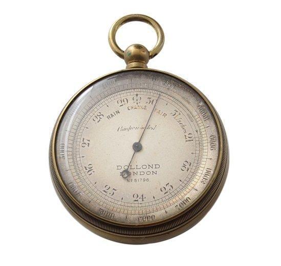 Vintage Dollon London Aneroid Pocket Barometer
