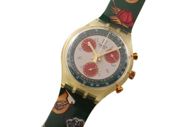 Vintage Swatch Chronograph Riding Team Watch with Box