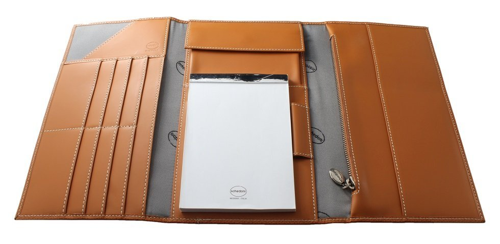 Large Schedoni Leather Travel Wallet