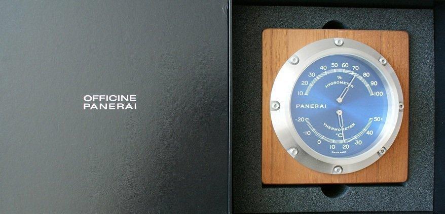 Panerai Thermometer Hygrometer Table Desk Instrument