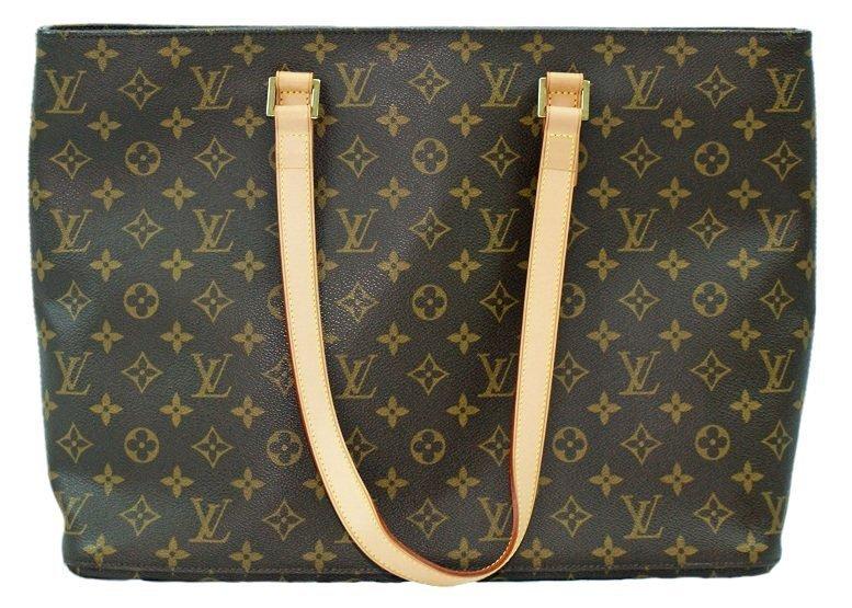 Louis Vuitton Monogram Luco Tote Handbag Purse