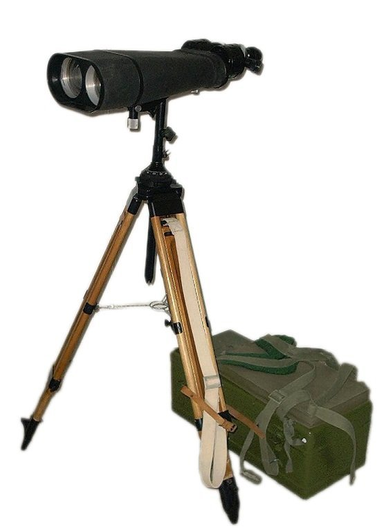 Large Military Binoculars With Tripod Stands and