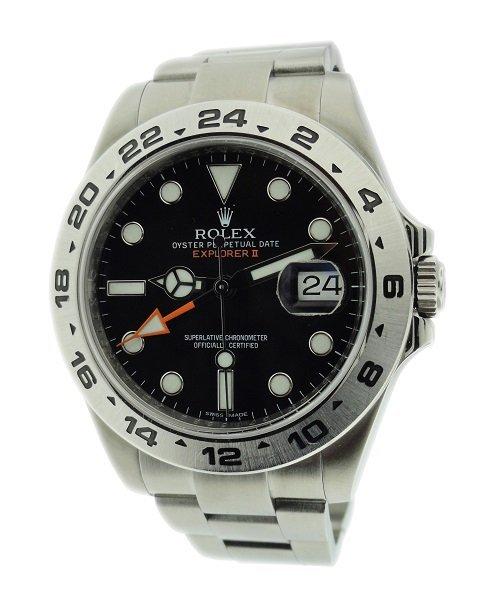 Stainless Steel Men`s Rolex Explorer II Watch #216570.