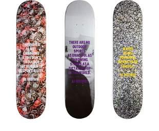 Rare Limited Edition Ai Weiwei 3 Skateboard Deck Set