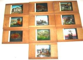 10 Historical magic lantern slides,