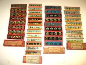 Four boxes of Magic Lantern slides,