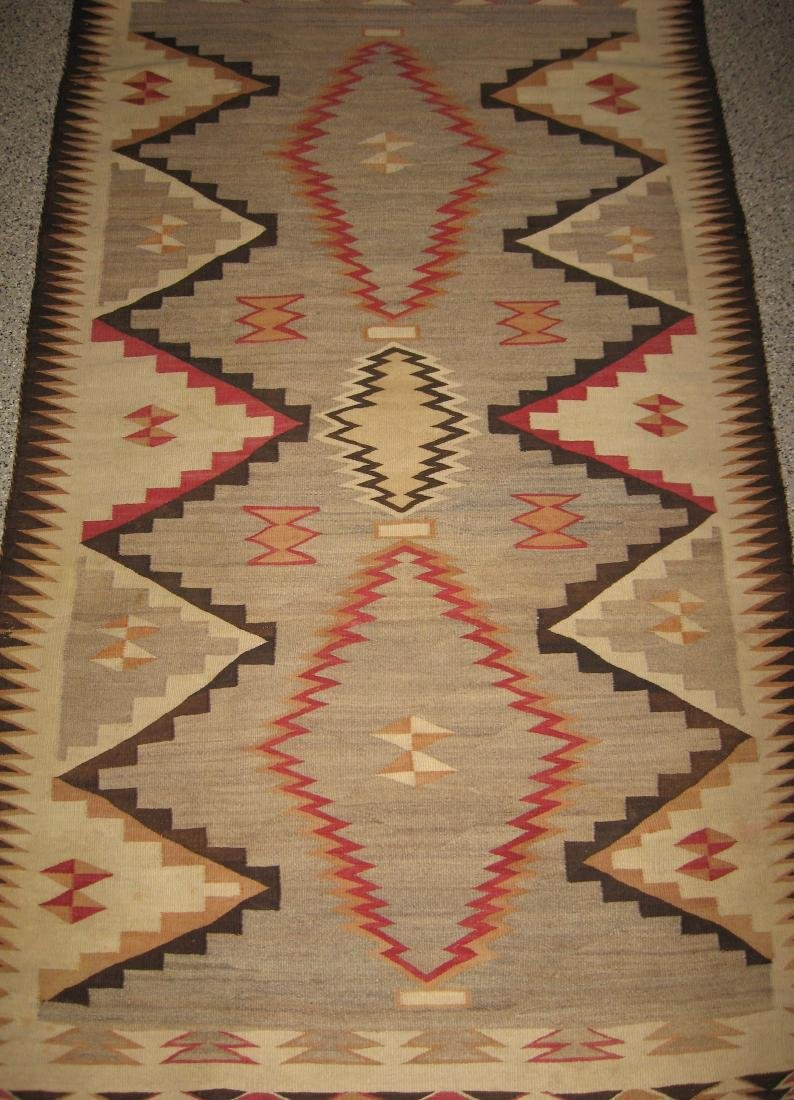 Large Navajo Indian wool rug,
