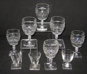 Group of 10 Hawkes water goblets,