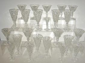 Group of 26 Hawkes cut goblets,