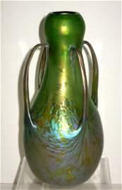 Magnificent Loetz Medici glass vase,