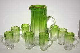 Magnificent Moser water set,