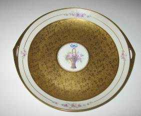 Pickard two handle porcelain tray,