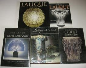 Five books on Lalique
