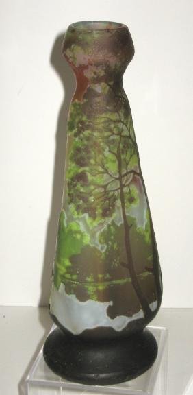 Legras French cameo glass vase,