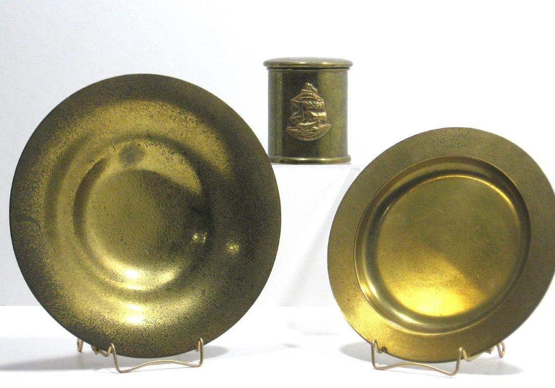 Three Tiffany and Company bronze items,
