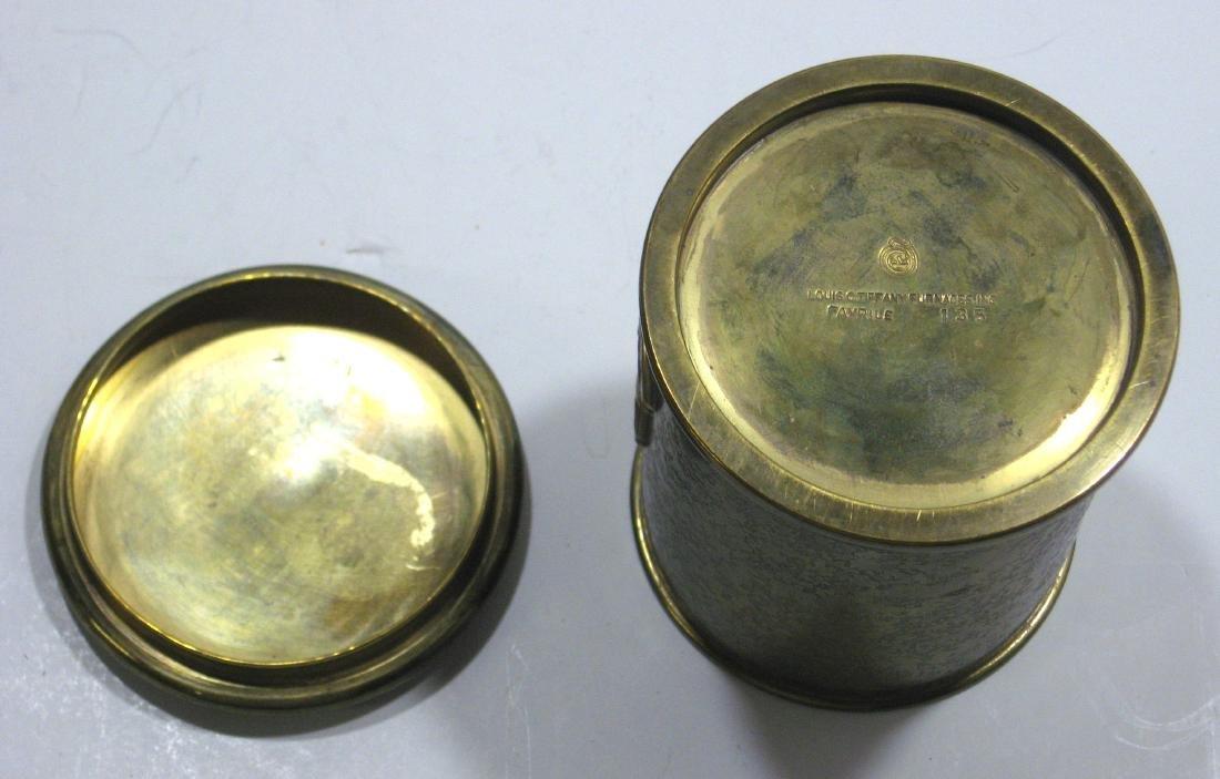 Three Tiffany and Company bronze items, - 6