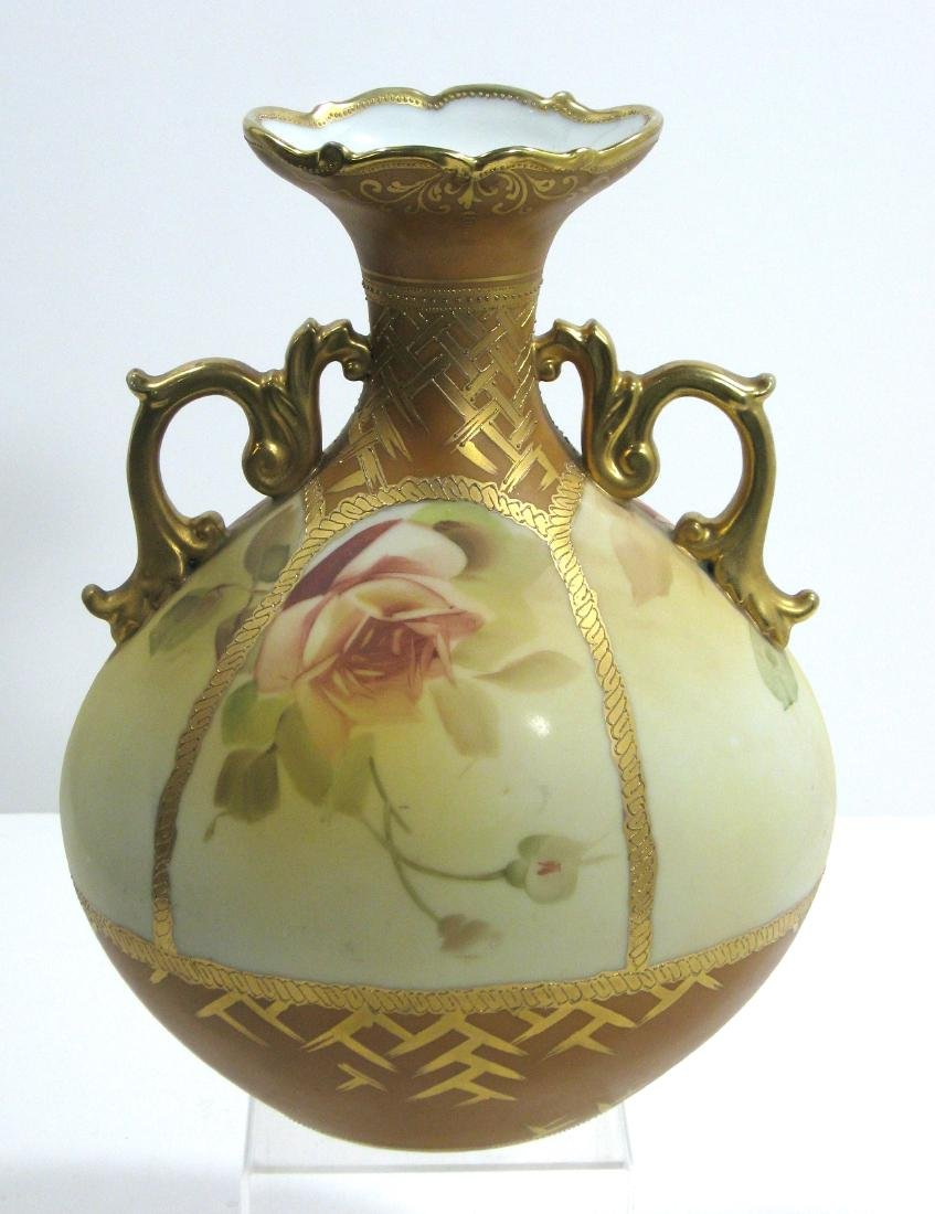 Nippon two handled porcelain vase, - 2