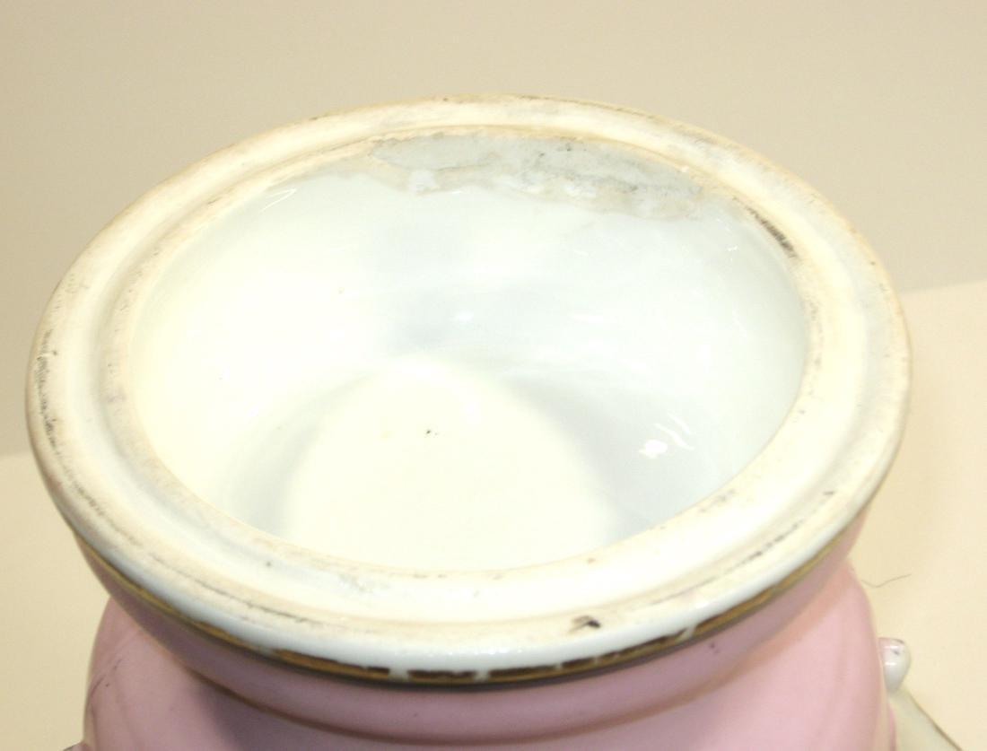 Old Paris porcelain urn - 4
