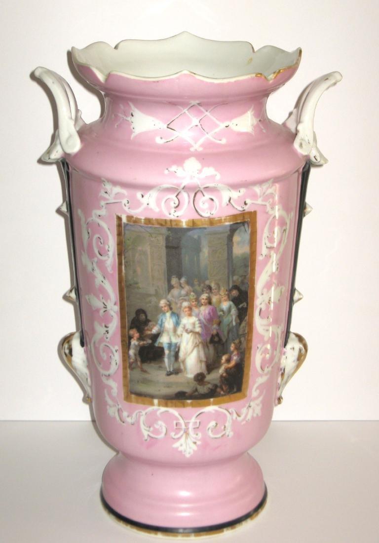 Old Paris porcelain urn - 5