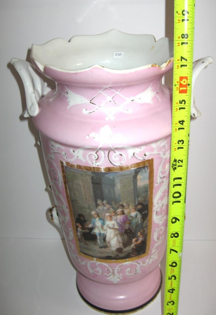 Old Paris porcelain urn - 7